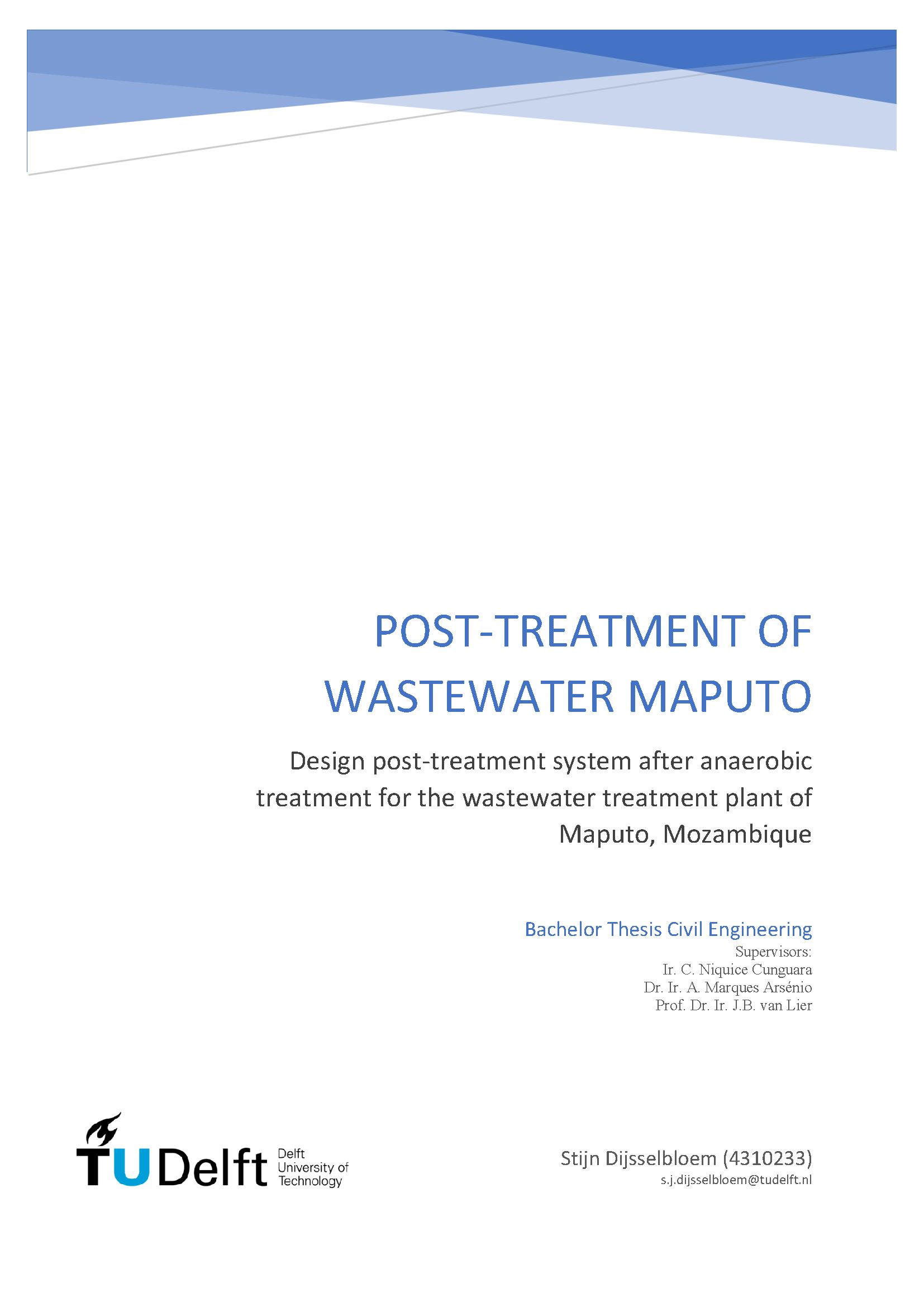 waste water treatment dissertation Wastewater treatment is performed on a variety of waste sources such as agricultural, residential, and industrial waste many bacteria such as nitrsomonas, nitrobacter and paracoccus are important players in the treatment of industrial and sewage waste.
