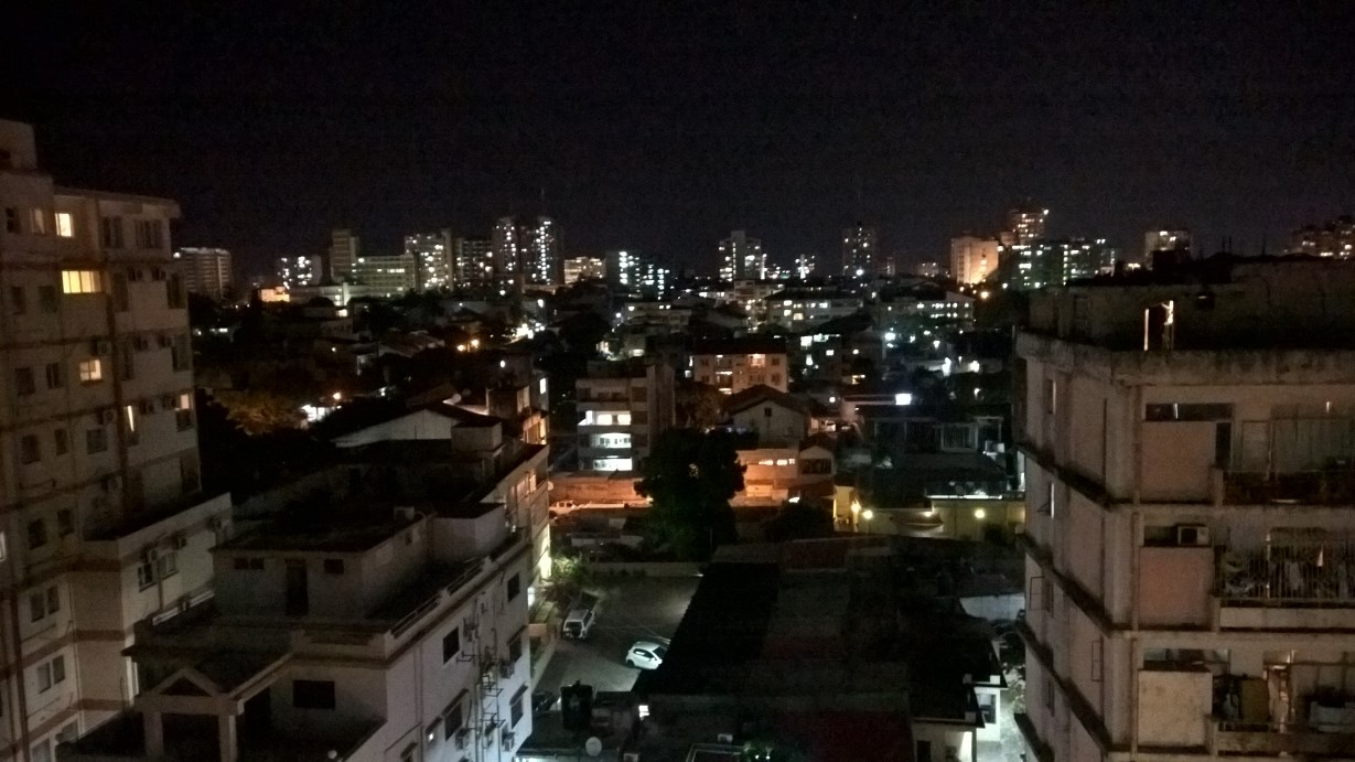 2 Maputo at night from SELF rooftop while checking our laundry